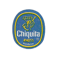 Chiquita  #4011  22 x 26,7 mm paper before 2012 NB Honduras unique