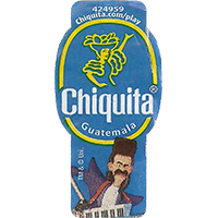 Chiquita 424959 Chiquita.com/play  0 x 0 mm paper 2017  Guatemala unique