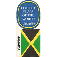 Chiquita COLLECT FLAGS OF THE WORLD JAMAICA  0 x 0 mm paper 2017 KČ unique