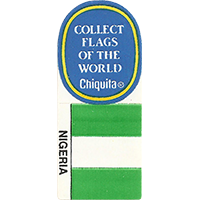 Chiquita COLLECT FLAGS OF THE WORLD NIGERIA  0 x 0 mm paper 2017 KČ unique
