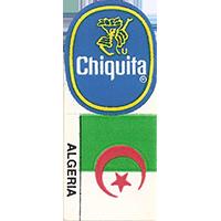 Chiquita ALGERIA  0 x 0 mm paper 2017 KČ unique