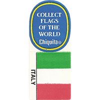 Chiquita COLLECT FLAGS OF THE WORLD ITALY  0 x 0 mm paper 2017 KČ unique