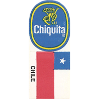 Chiquita COLLECT FLAGS OF THE WORLD CHILE  0 x 0 mm paper 2017 KČ unique