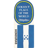 Chiquita COLLECT FLAGS OF THE WORLD HONDURAS  0 x 0 mm paper 2017 KČ unique