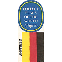 Chiquita COLLECT FLAGS OF THE WORLD GERMANY  0 x 0 mm paper 2017 KČ unique