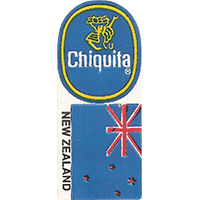 Chiquita NEW ZEALAND  0 x 0 mm paper 2017 KČ unique