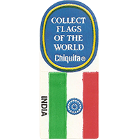 Chiquita COLLECT FLAGS OF THE WORLD INDIA  0 x 0 mm paper 2017 KČ unique