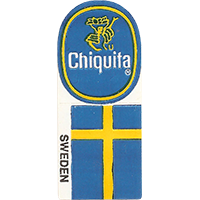 Chiquita SWEDEN  0 x 0 mm paper 2017 KČ unique