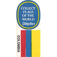 Chiquita COLLECT FLAGS OF THE WORLD COLOMBIA  0 x 0 mm paper 2017 KČ unique