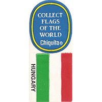 Chiquita COLLECT FLAGS OF THE WORLD HUNGARY  0 x 0 mm paper 2017 KČ unique