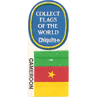Chiquita COLLECT FLAGS OF THE WORLD CAMEROON  0 x 0 mm paper 2017 KČ unique