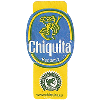 Chiquita  RAINFOREST ALLIANCE CERTIFIED www.chiquita.eu  22,1 x 44,7 mm paper 2012 NB Panama unique