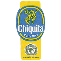 Chiquita  RAINFOREST ALLIANCE CERTIFIED www.chiquita.eu  22,1 x 44,7 mm paper 2013 Costa Rica unique