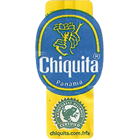 Chiquita RAINFOREST ALLIANCE CERTIFIED chiquita.com/rfa  22,1 x 44,5 mm paper 2016 J Panama unique