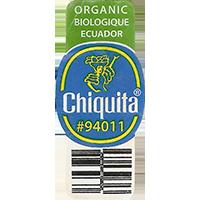 Chiquita ORGANIC BIOLOGIQUE #94011  0 x 0 mm paper 2017  Ecuador unique