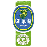 Chiquita  RAINFOREST ALLIANCE CERTIFIED EST. 1987  22,1 x 44,6 mm paper before 2012 Panama unique