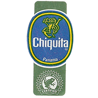 Chiquita  RAINFOREST ALLIANCE CERTIFIED  22,1 x 44,5 mm paper 2012 DK Panama unique