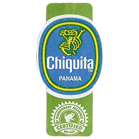 Chiquita  RAINFOREST ALLIANCE CERTIFIED EST. 1987  22,1 x 44,5 mm paper 2012 DK Panama unique