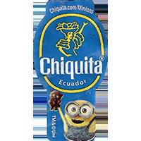 Chiquita Chiquita.com/Minions  23,6 x 44,3 mm Ecuador paper 2015 J unique