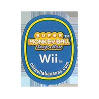 Chiquita Wii SUPER MONKEY BALL Step&Roll chiquitabananas.com  22,1 x 27,6 mm paper before 2012 TL unique