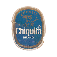Chiquita BRAND  21,6 x 27,6 mm paper 2017 MC Colombia unique