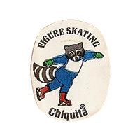 Chiquita Olympics Lake Placid 1980  FIGURE SKATING  22,1 x 28,4 mm paper before 2012 NB unique