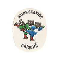 Chiquita Olympics Lake Placid 1980  PAIRS SKATING  22,1 x 28,4 mm paper before 2012 NB unique