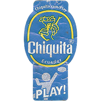 Chiquita PLAY! chiquita.com/play  23,3 x 44,2 mm paper 2016 PM Ecuador unique