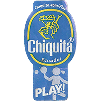 Chiquita PLAY! chiquita.com/play  23,3 x 44,2 mm paper 2016 J Ecuador unique