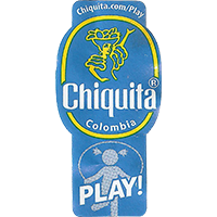 Chiquita Chiquita.com/Play PLAY!  21,9 x 44,4 mm paper 2017 J Colombia unique