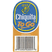 Chiquita TO GO  22,4 x 44,4 mm paper 2016 PM Guatemala unique