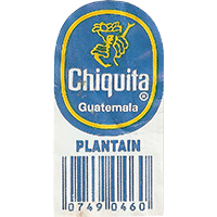 Chiquita PLANTAIN 0749 0460  0 x 0 mm paper 2017  Guatemala unique