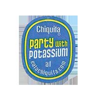 Chiquita party with potassium at eatachiquita.com  22,1 x 26,9 mm paper before 2012  unique