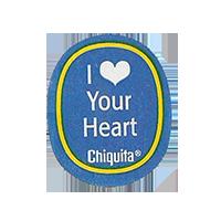 Chiquita I Love you heart  22,1 x 26,7 mm paper before 2012  unique