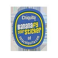 Chiquita Nananafy your Sticker at eatachiquita.com  22,1 x 27,5 mm paper before 2012 TL unique