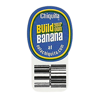 Chiquita Build you own Banana at eatachiquita.com  21,5 x 40,4 mm paper 2012 DK unique