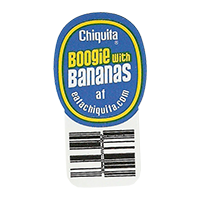 Chiquita Boogie with Bananas at eatachiquita.com  21,5 x 40,4 mm paper 2012 DK unique