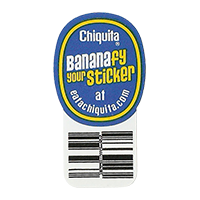 Chiquita Bananafy your Sticker at eatachiquita.com  21,5 x 40,4 mm paper 2012 DK unique