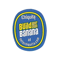 Chiquita Build your own Banana at eatachiquita.com  22,1 x 27,5 mm paper 2012 DK unique