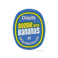 Chiquita Boogie With Bananas at eatachiquita.com  22,1 x 27,5 mm paper 2012 DK unique