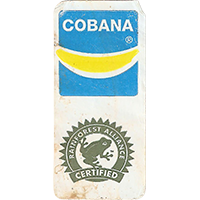 Cobana RAINFOREST ALLIANCE CERTIFIED  20,3 x 43,5 mm paper 2017 ML unique