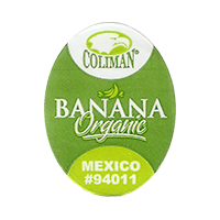 COLIMAN BANANA Organic #94011  19,2 x 25 mm plastic 2015 NB Mexico unique
