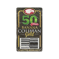 COLIMAN BANANA GOLD 50 Years  #4011  18 x 30 mm plastic 2015 WF Mexico unique
