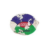 coop  23,2 x 17,3 mm paper 2016 KK Ecuador unique