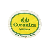 Coronita EXTRA PREMIUM BANANAS  26,7 x 22,1 mm paper 2012 J Ecuador unique