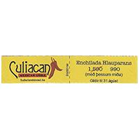 Culiacan MEXICAN GRILL Enchilada Hlauparans  99,1 x 19,7 mm paper 2012 M Turkey unique