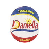 Daniella BANANAS  21,6 x 26,8 mm paper 2016 JK Ecuador unique