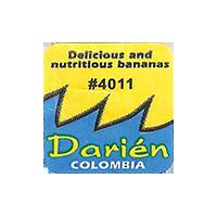 Darien Delicious and nutritious bananas #4011  0 x 0 mm paper 2017  Columbia unique