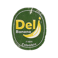 Del Banana #4011  22 x 26,9 mm paper 2015 WF Colombia unique