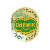 Del Monte Quality ORGANIC #94011  21,9 x 26,9 mm paper before 2012 Ecuador unique